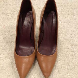 Zara Cognac Brown Court Shoes size 8